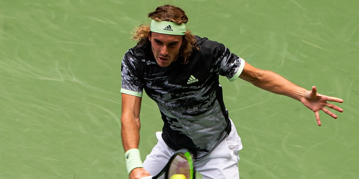 Stefanos Tsitsipas at the 2019 US Open