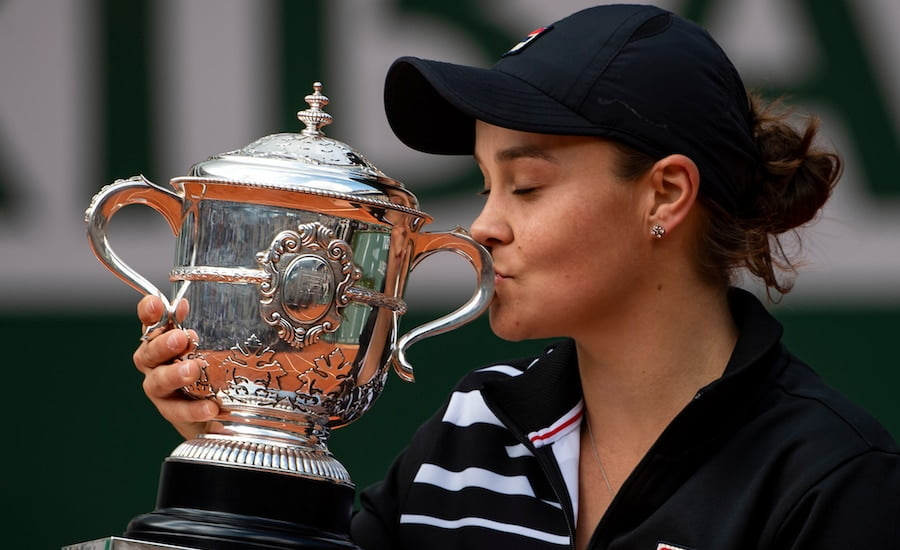 Ash Barty 2019 French Opon winner