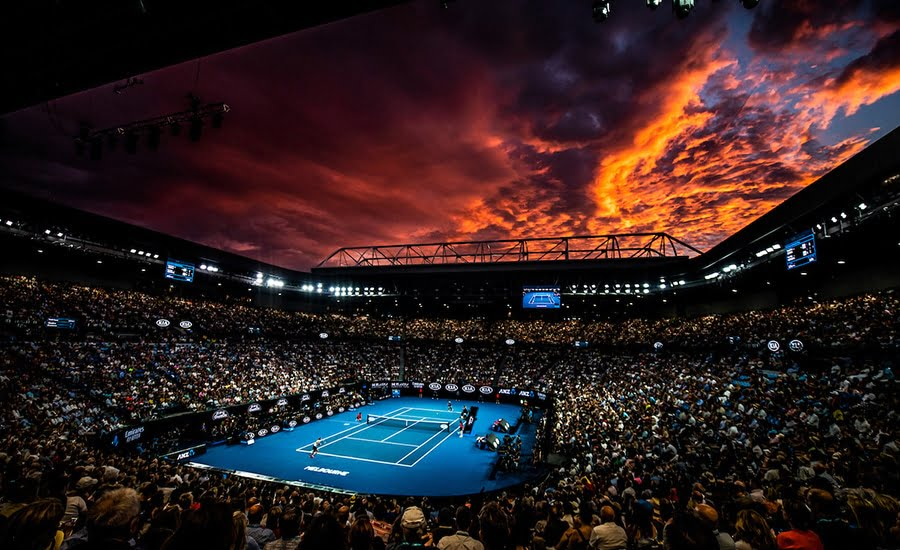 Australian Open 2019 sunset