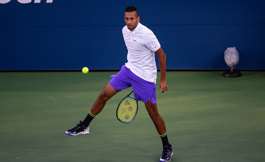 Nick Kyrgios tweener US Open 2019