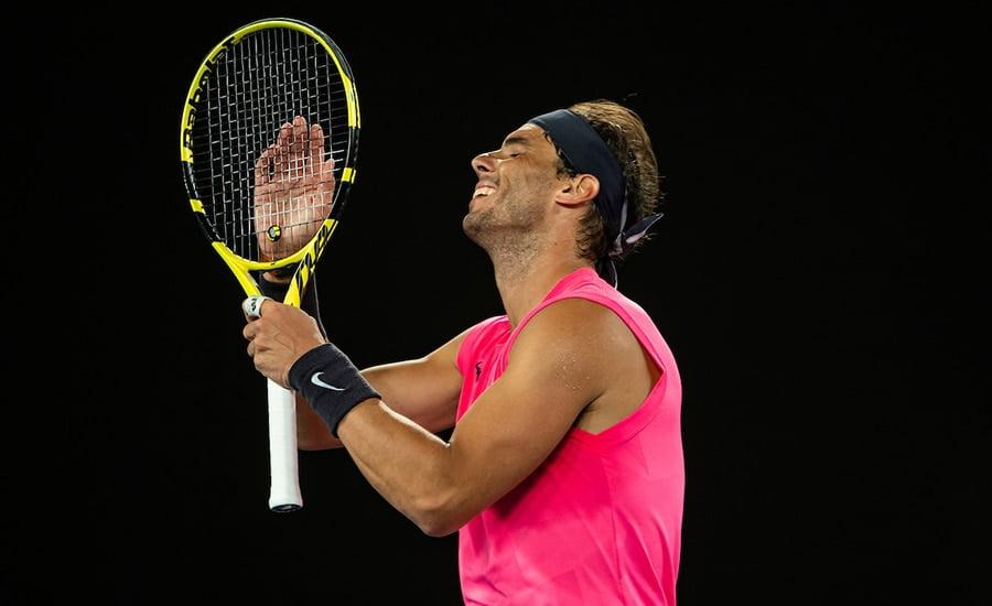 Rafael Nadal having a laugh