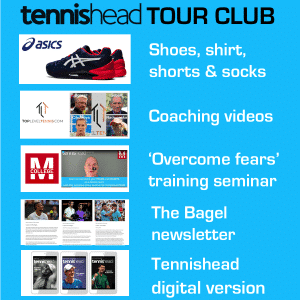 Tennishead TOUR CLUB benefits