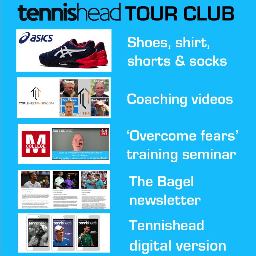 Tennishead TOUR CLUB benefits