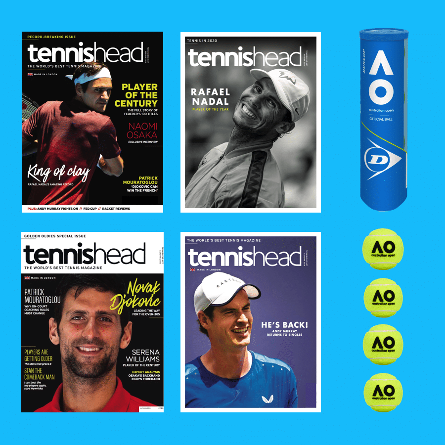tennishead magazine subscription with free gift