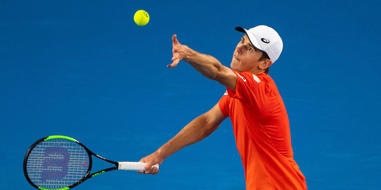 Alex de Minaur at the 2019 Australian Open