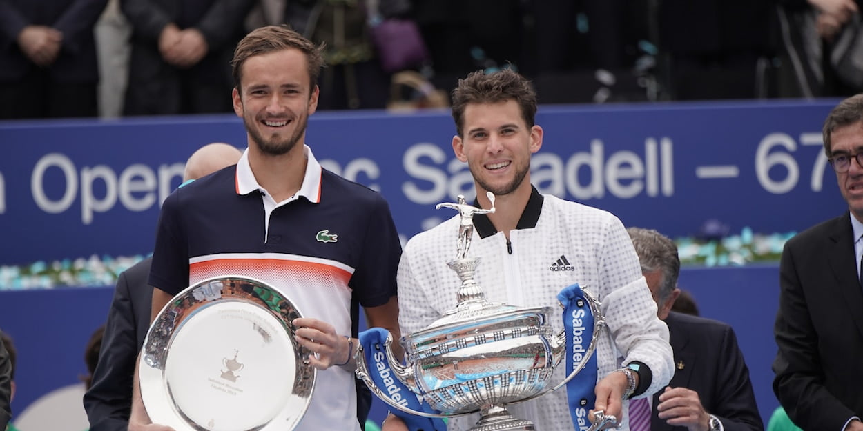 Dominic Thiem and Daniil Medvedev Barcelona Open 2019