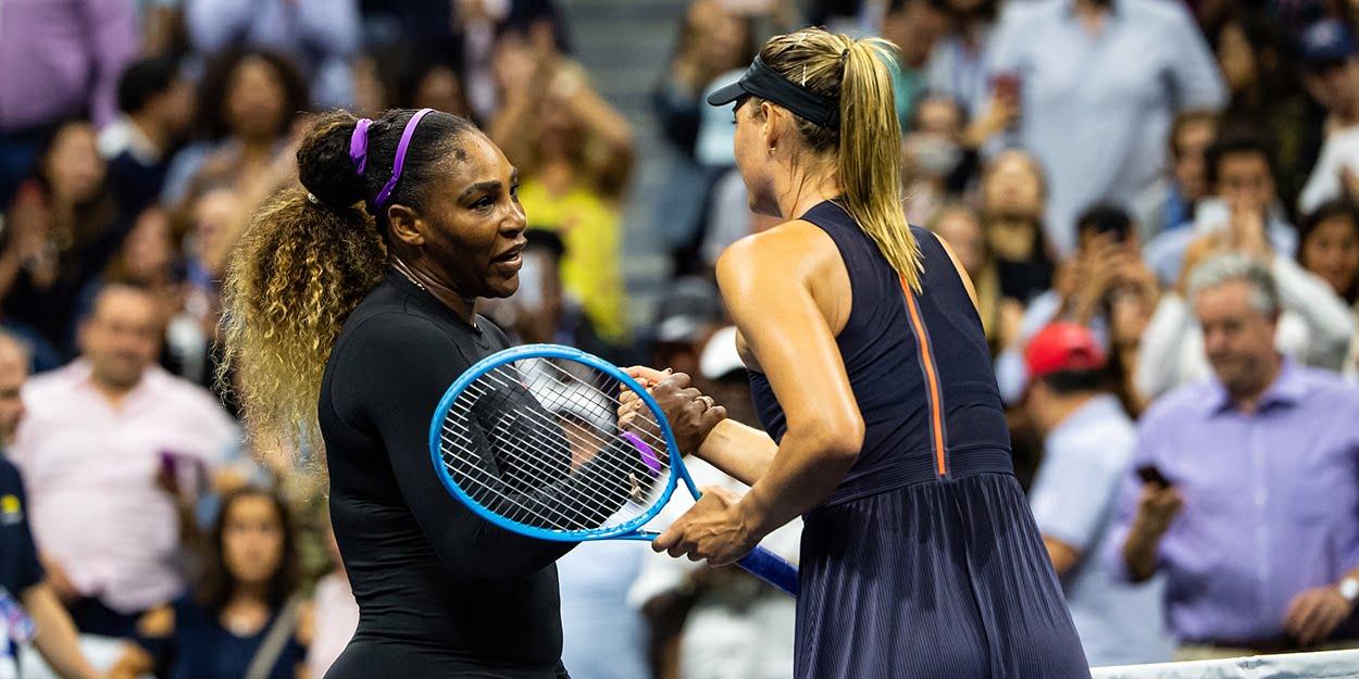 Maria Sharapova with Serena Williams