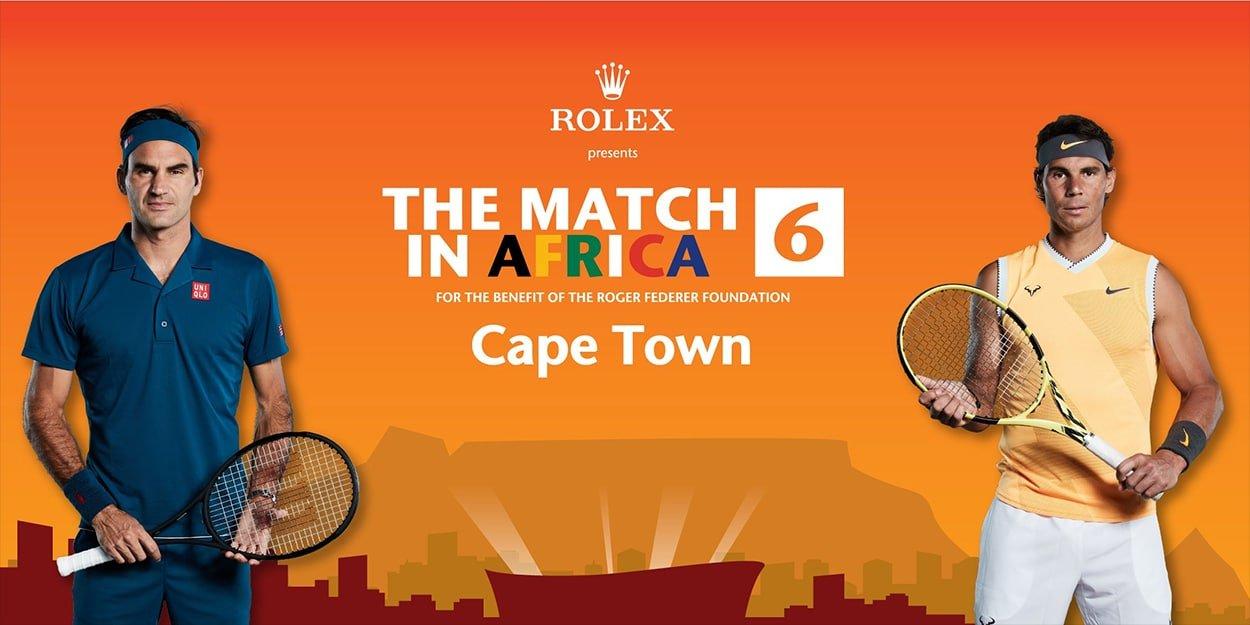 Match in Africa Roger Federer Rafael Nadal