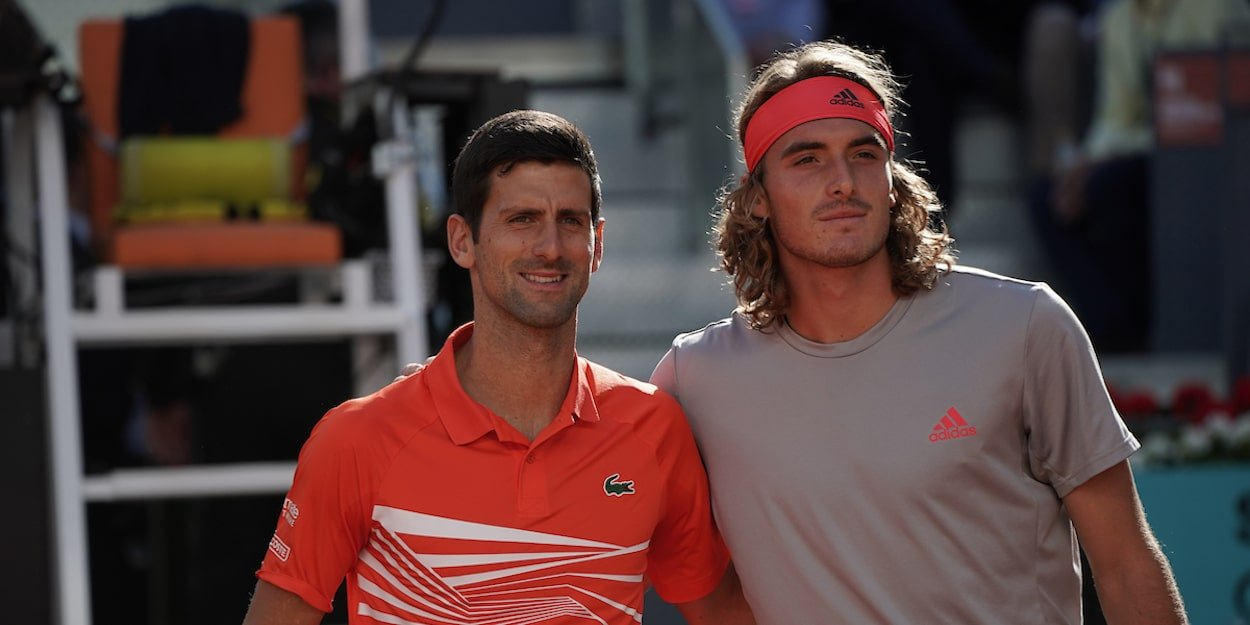 Novak Djokovic Stefanos Tsitsipas Madrid Open 2019 final