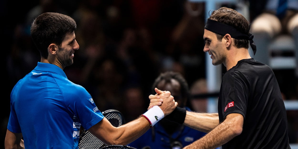 Novak Djokovic and Roger Federer