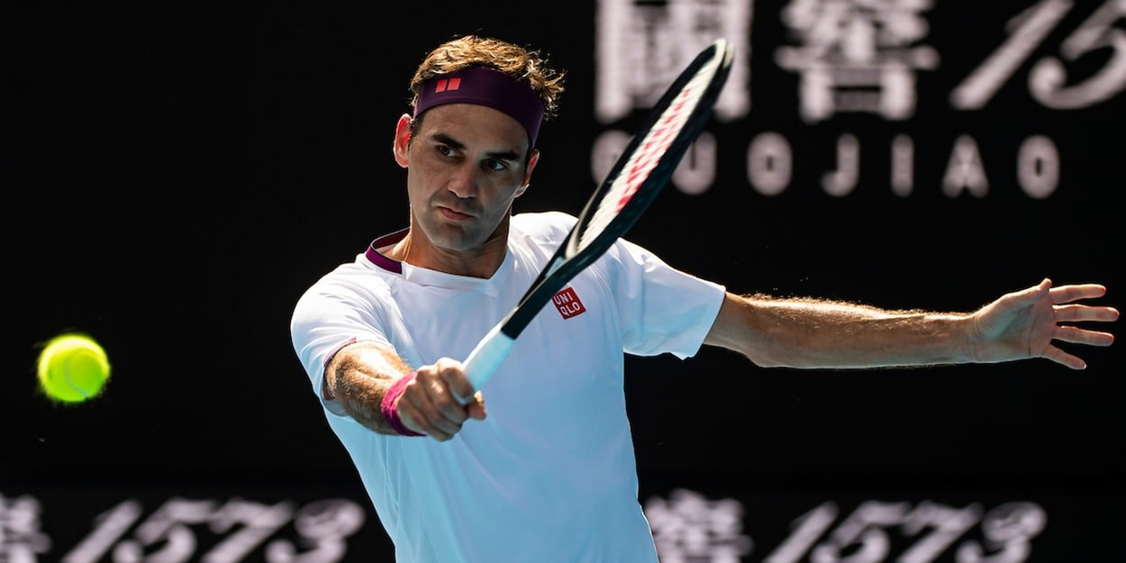 Roger Federer backhand at Australian Open