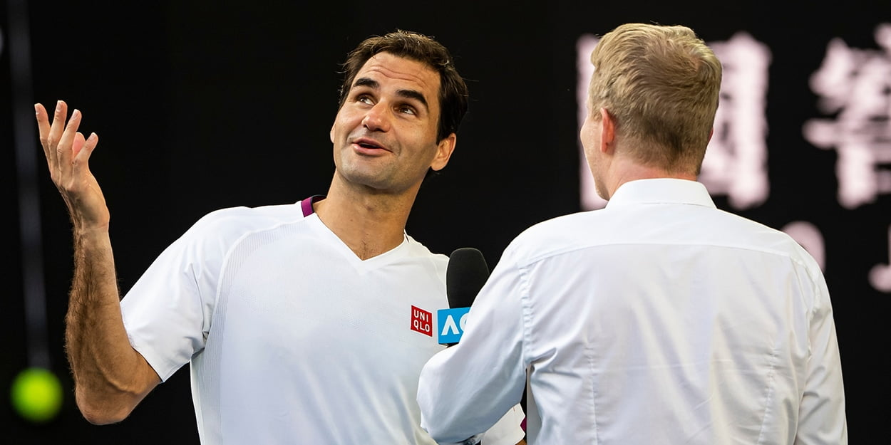Roger Federer interviewed at Australian Open