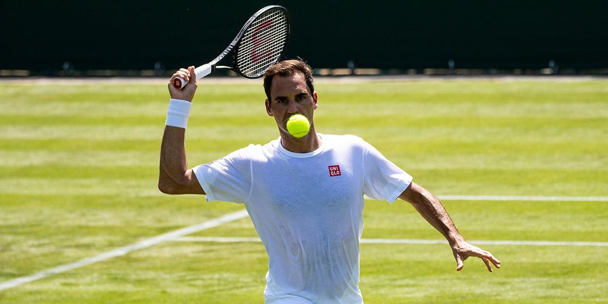 Roger Federer on grass