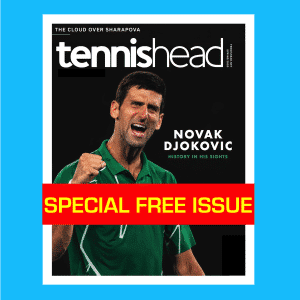 FREE tennishead print magazine March 2020