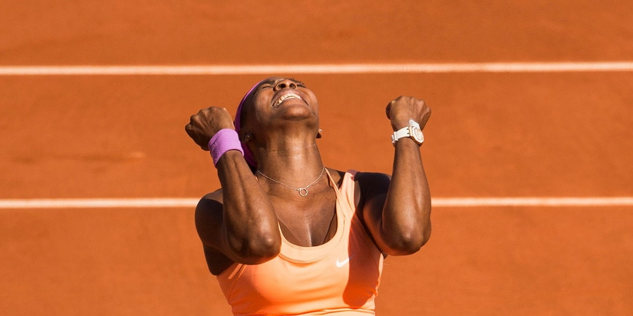 Serena Williams celebration