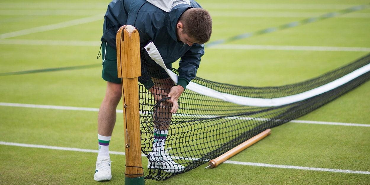 Tennis net taken down