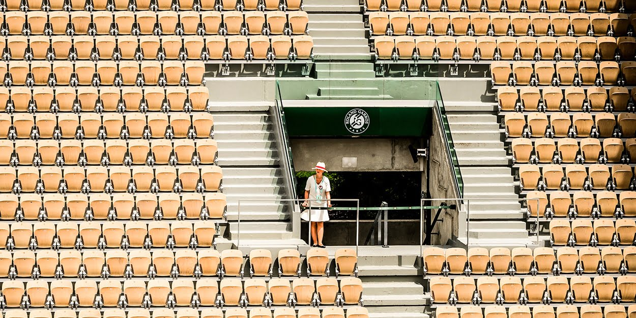 Tennis stadiums empty due to coronavirus