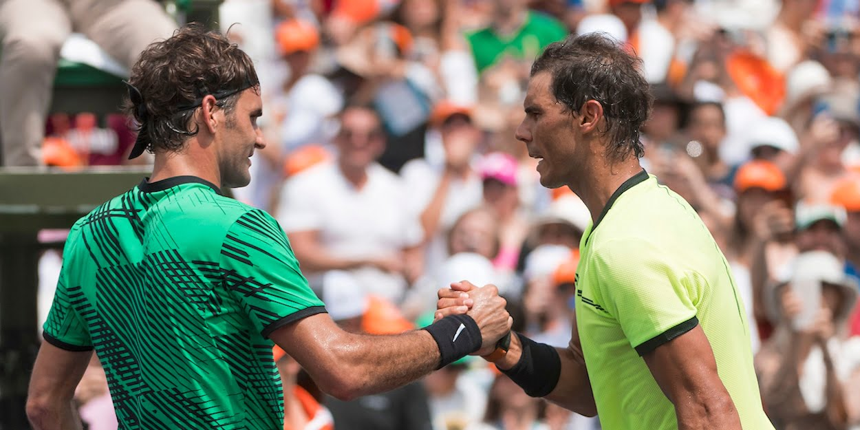 Federer Nadal shake hands after match