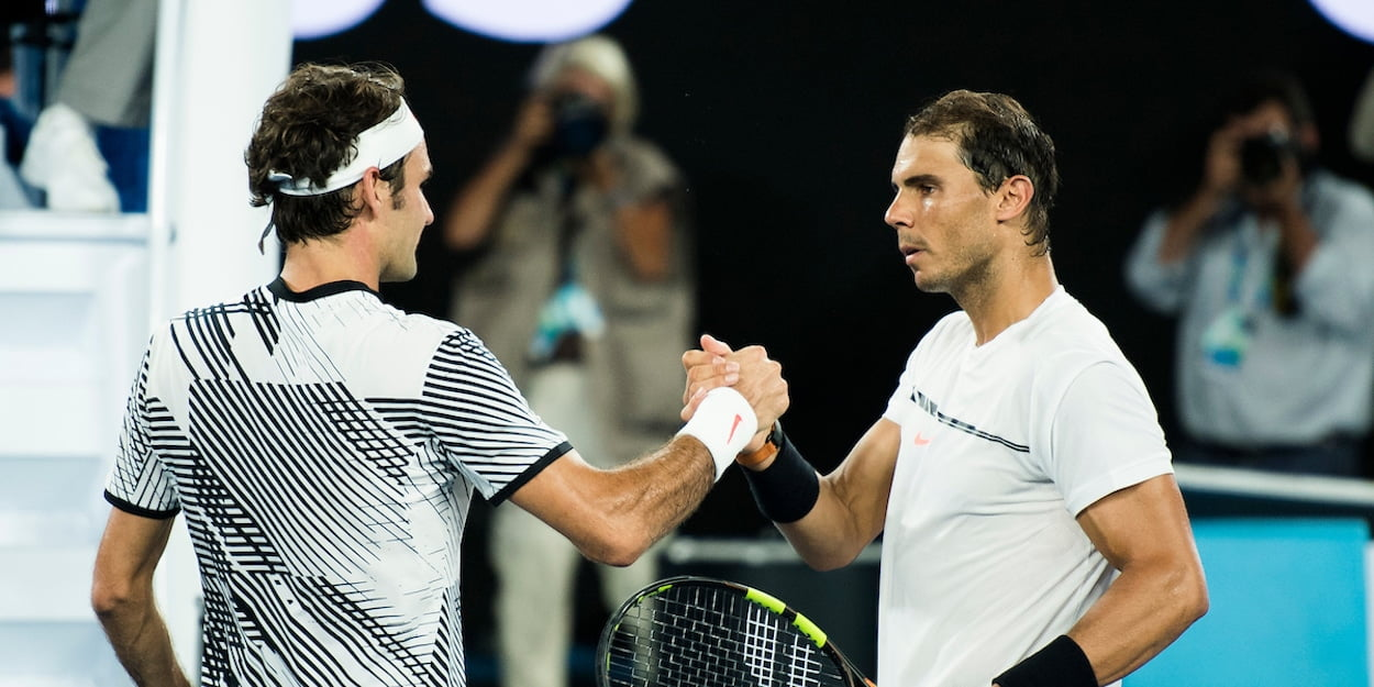 Nadal Federer shake hands after match