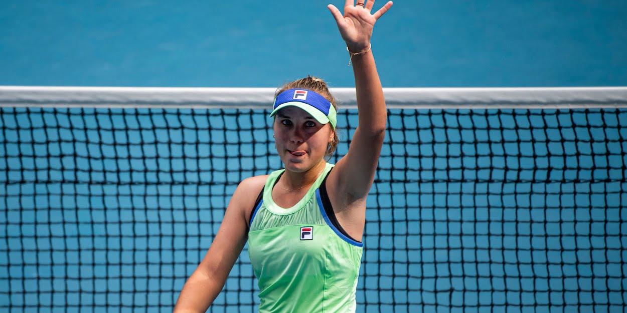 SOFIA KENIN (USA)TENNIS , AUSTRALIAN OPEN, MELBOURNE PARK, MELBOURNE, VICTORIA, AUSTRALIA, GRAND SLAM, HARD COURT, OUTDOOR, ITF, ATP, WTA, 2020