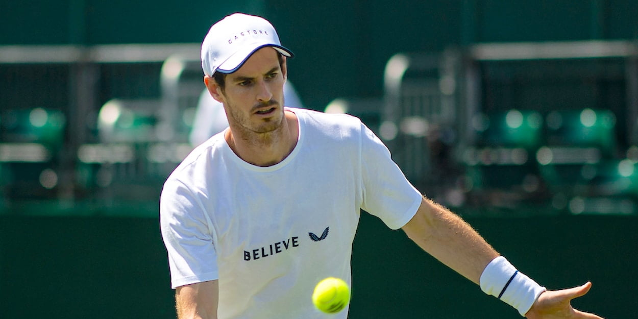 Andy Murray forehand volley Wimbledon