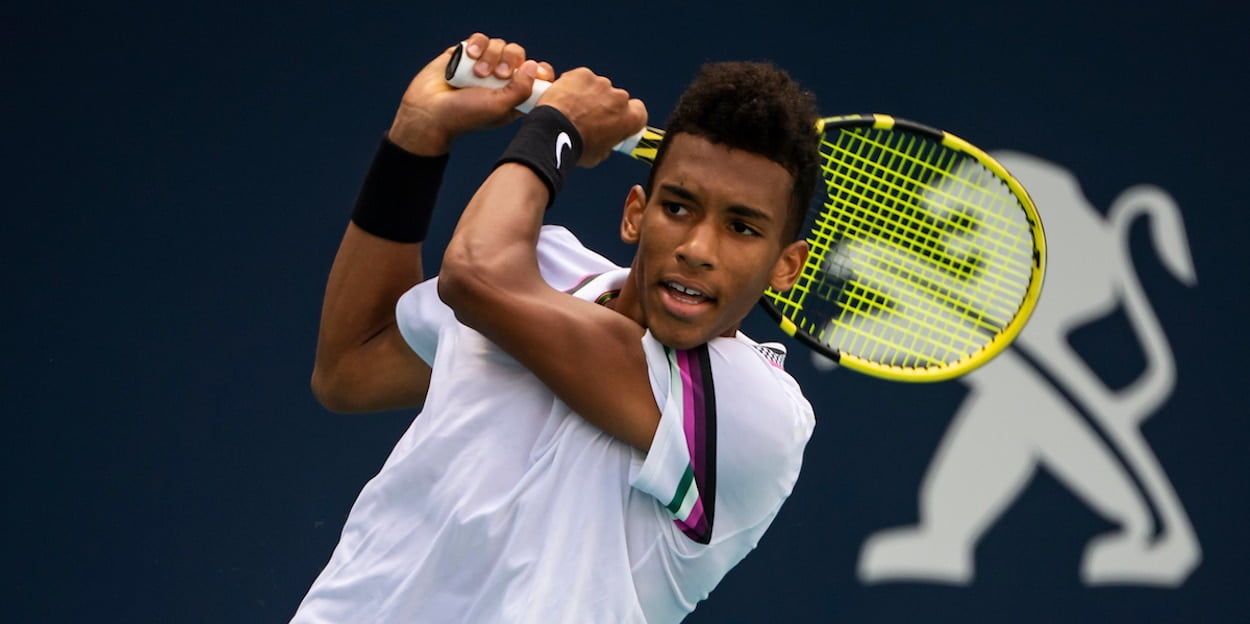 Felix Auger-Aliassime US Open 2019 backhand