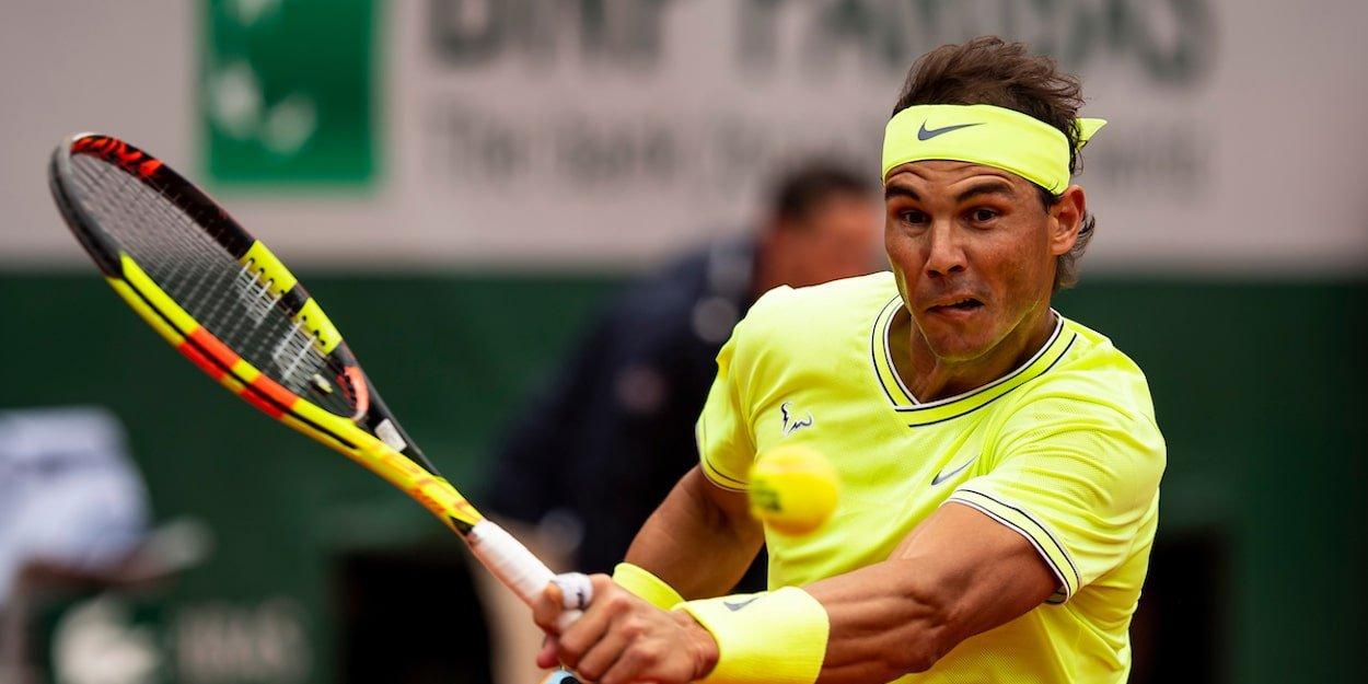 French Open Rafa Nadal backhand