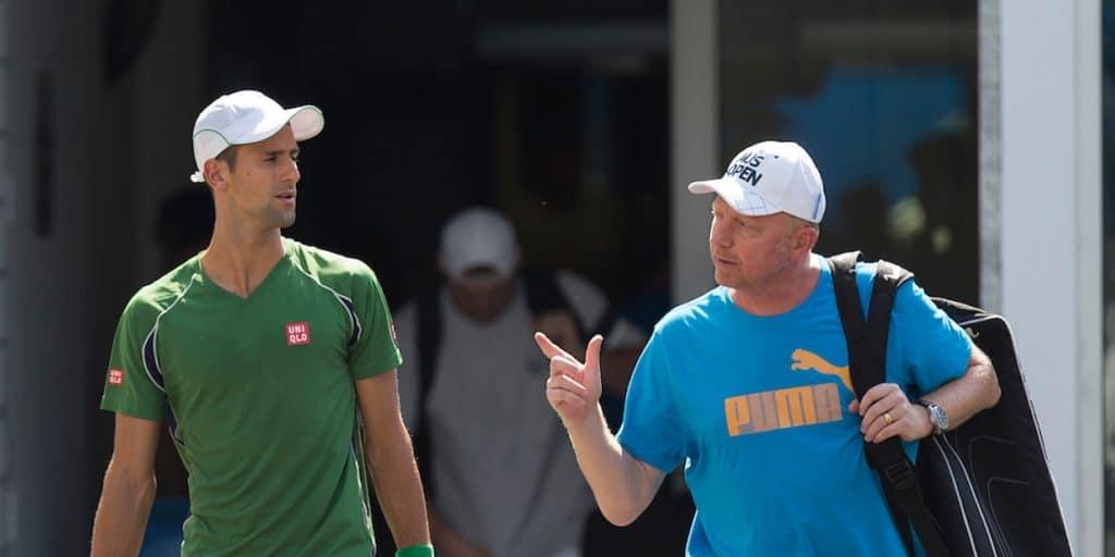 Boris Becker Novak Djokovic