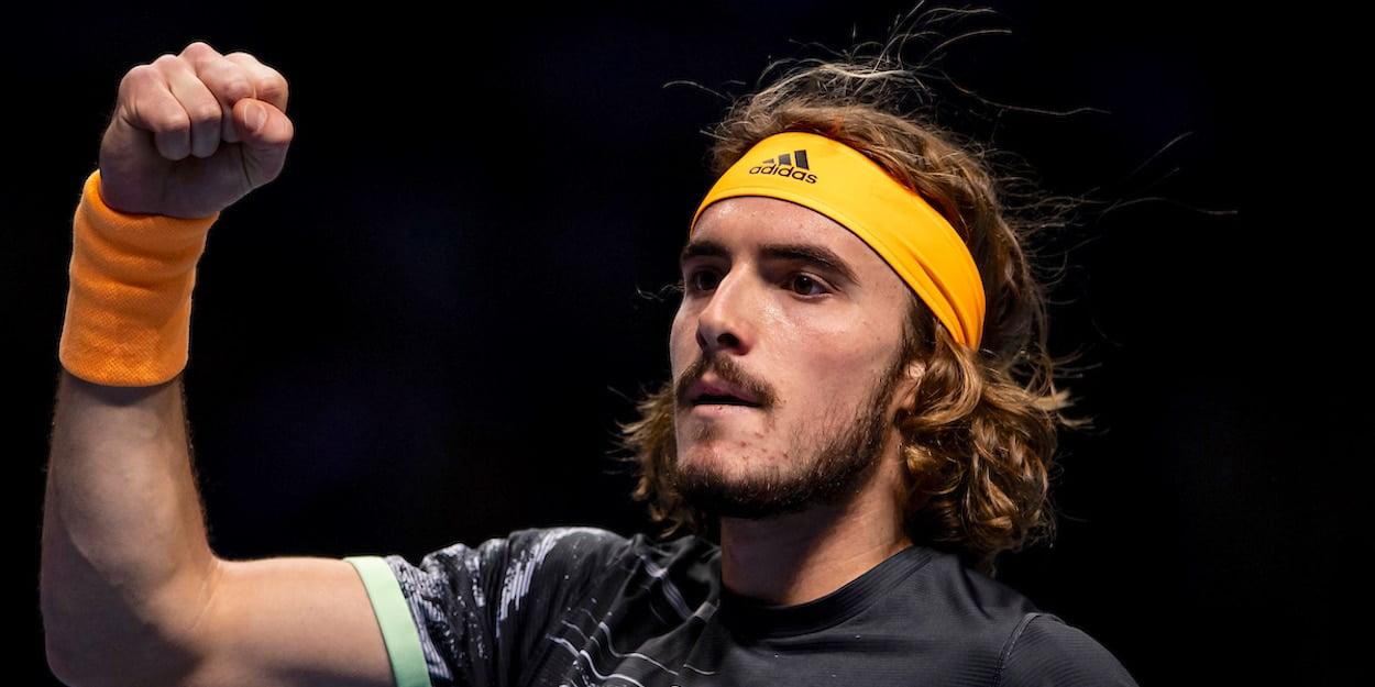 Stefanos Tsitsipas ATP Finals clenches fist