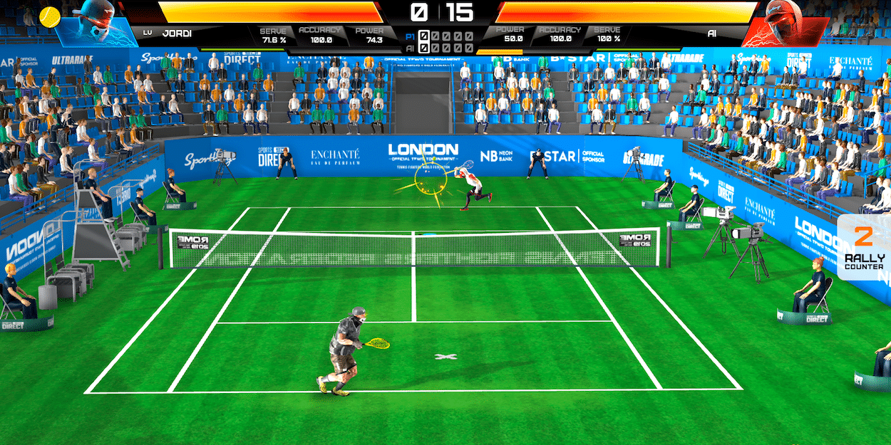 Tennis Fighters tennis video game