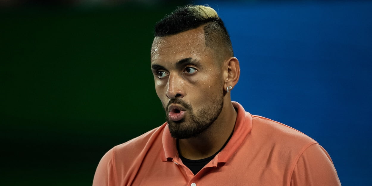 Nick Kyrgios looking upset