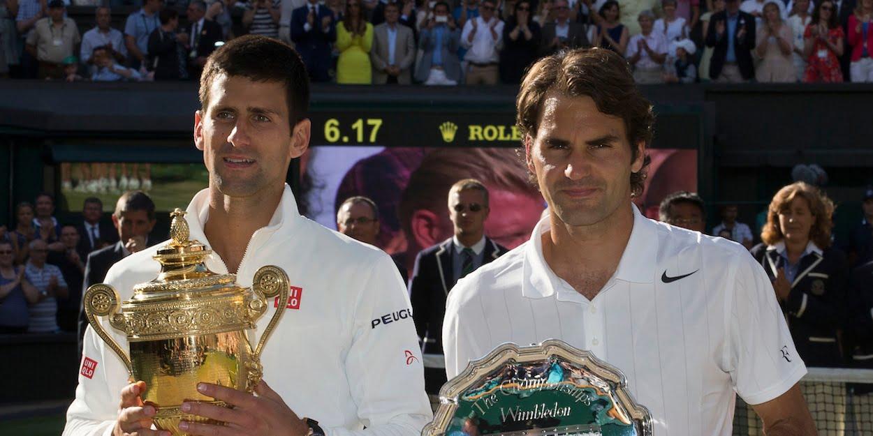 Novak Djokovic Roger Federer Wimbledon mens singles final 2014