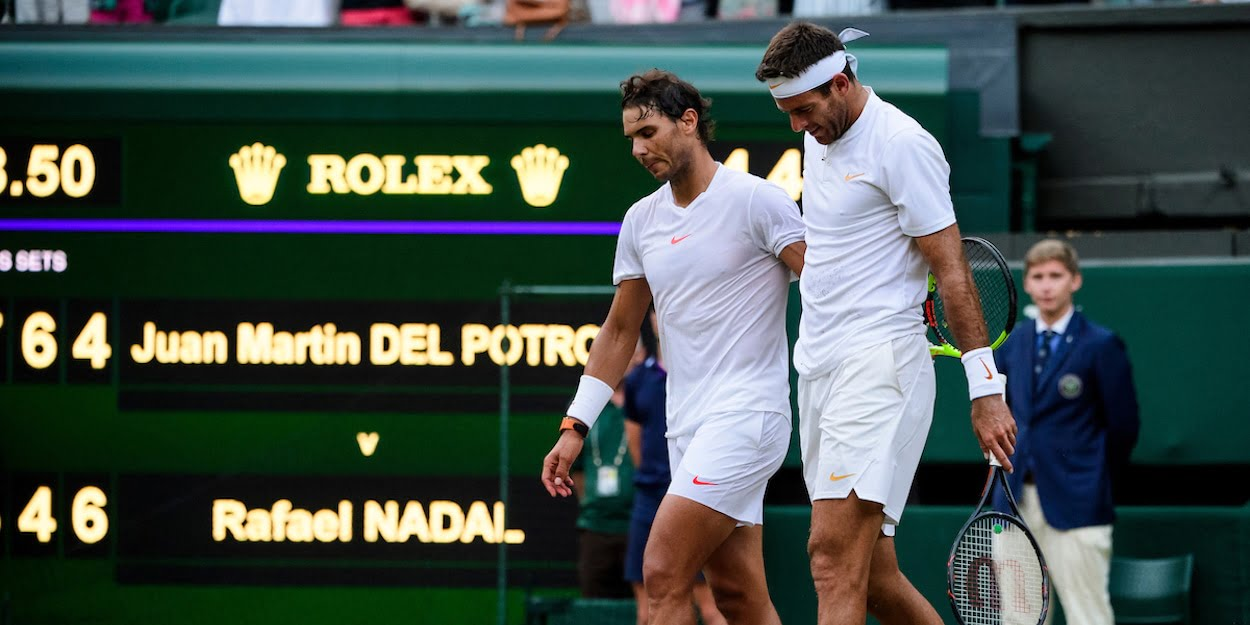 Rafa Nadal Juan Martin del Potro Wimbledon 2018