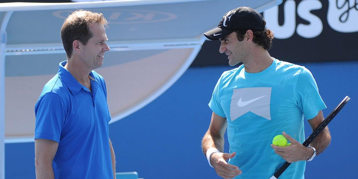 Stefan Edberg and Roger Federer