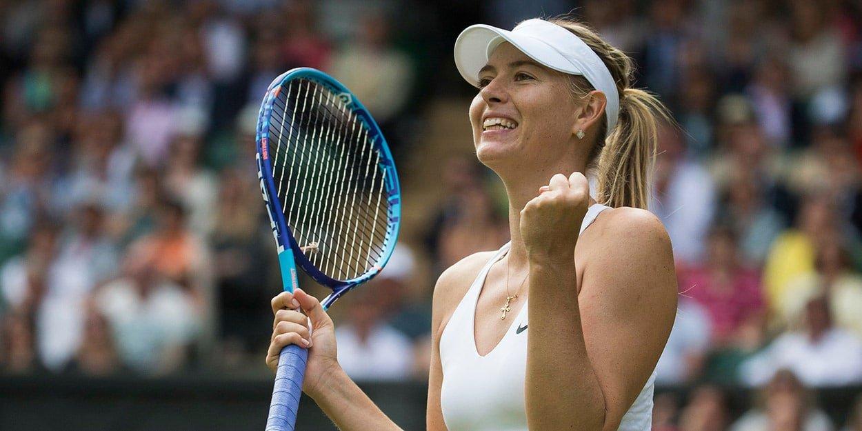 Maria Sharapova celebrating
