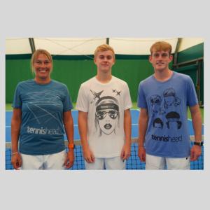 Tennishead t-shirts all facing