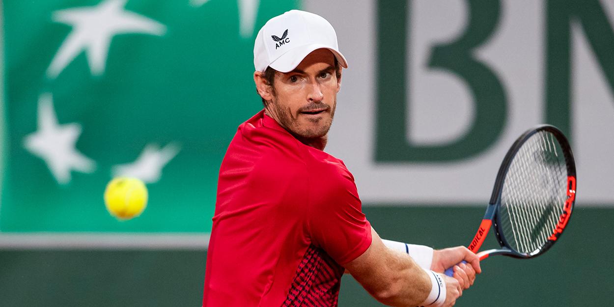 Andy Murray backhand at Roland Garros