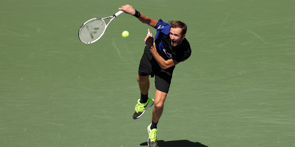 Daniil Medvedev serving at US Open