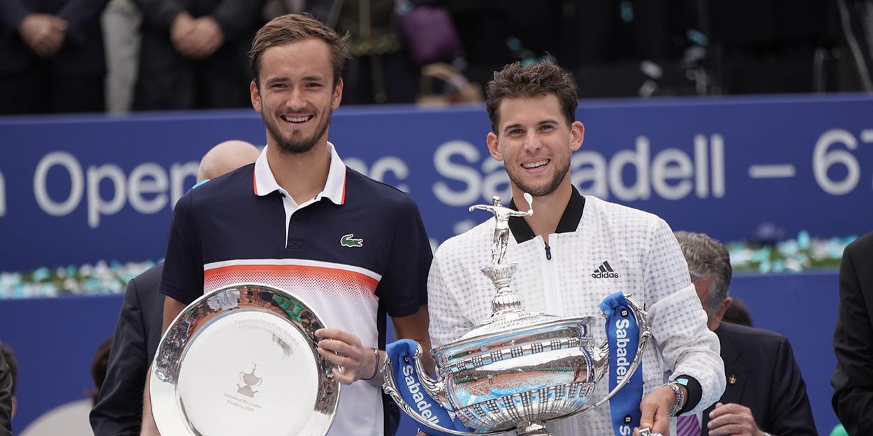 Dominic Thiem and Daniil Medvedev Barcelona final