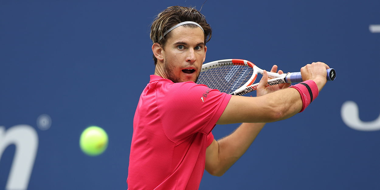 Dominic Thiem backhand US Open