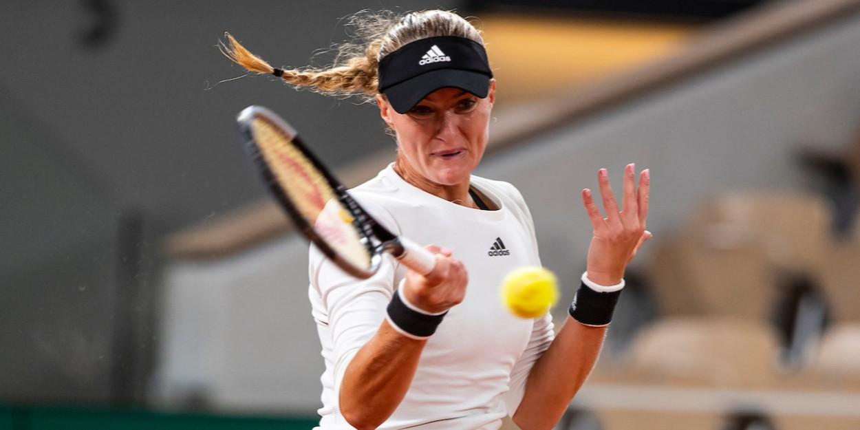 Kristina Mladenovic forehand