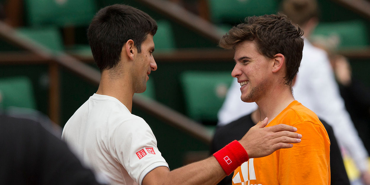 Novak Djokovic and Dominic Thiem