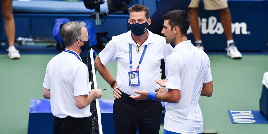 Novak Djokovic defaulted at US Open