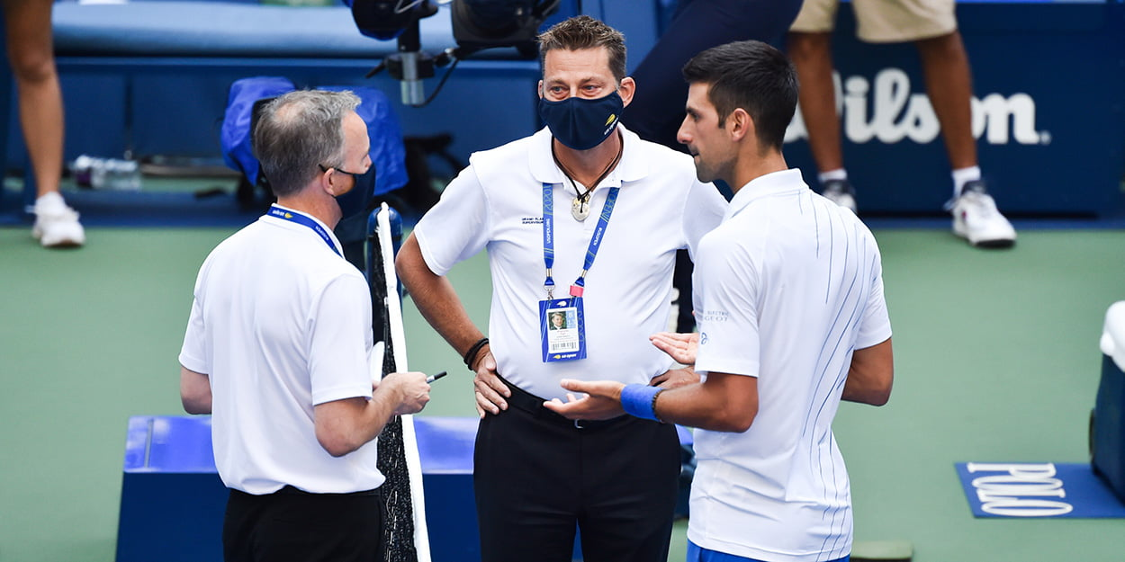 Novak Djokovic defaulted at US Open