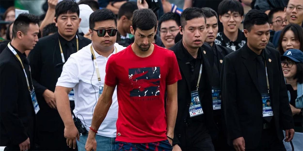 Novak Djokovic press duties