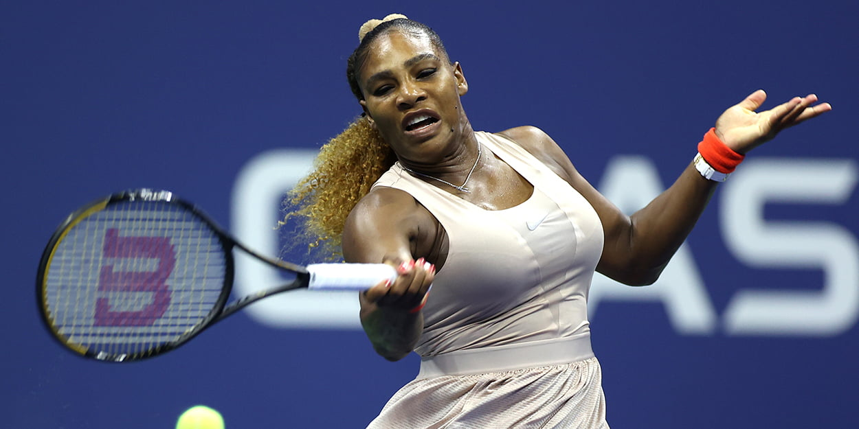 Serena Williams forehand US Open