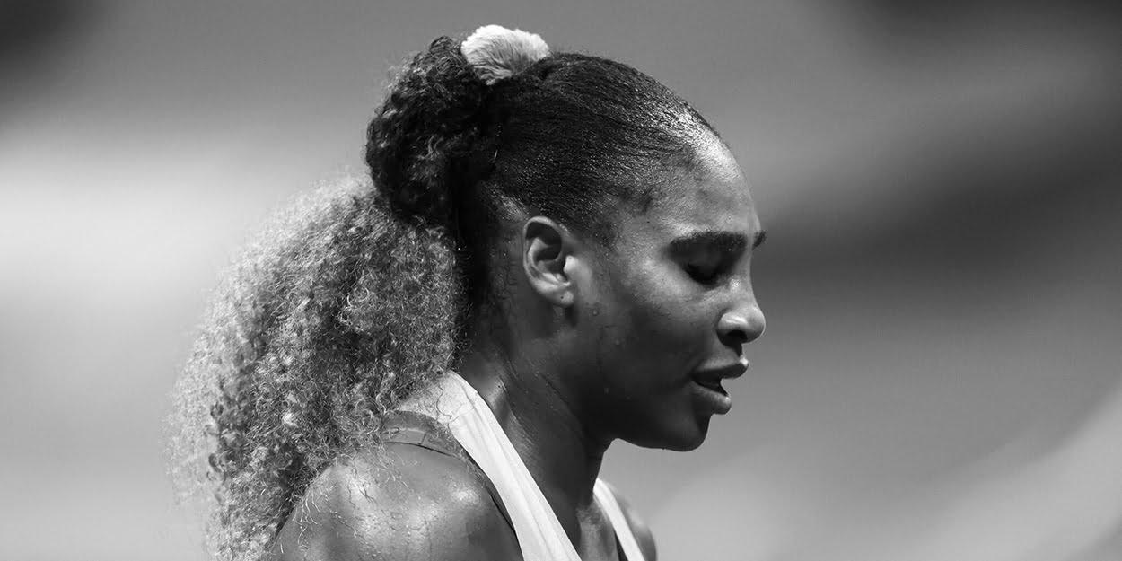 Serena Williams pensive - US Open