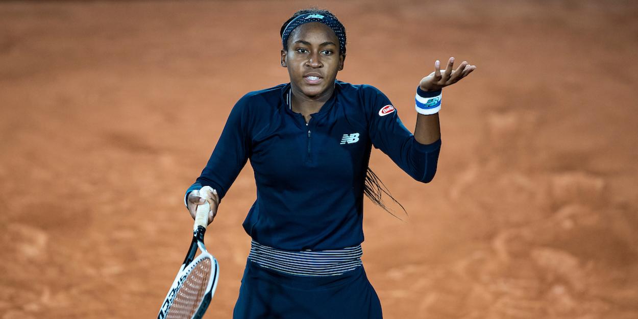 Coco Gauff French Open upset 2020