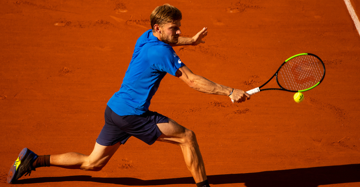 David Goffin slides on clay