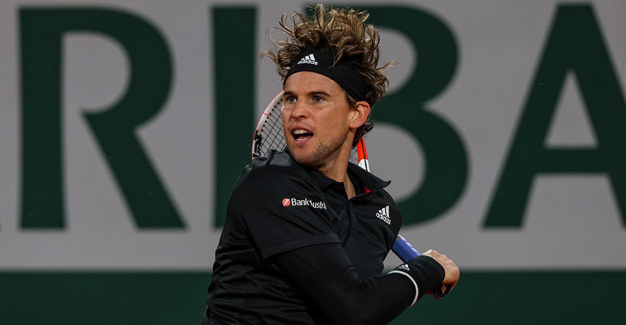 Dominic Thiem forehand Roland Garros